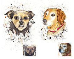 Inky Pet Portrait - A unique gift