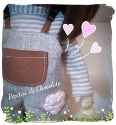 Muñeca Gabriela – Pepitas de Chocolate Gabriel, Chocolate, Knit Cardigan, Archangel Gabriel, Chocolates, Brown