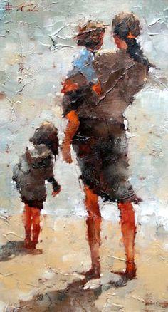 I like Andre Kohn very much! ---- Beautiful - I think the artist is Andre Kohn, but under correction. Figure Painting, Painting Art, Oil Paintings, Beautiful Paintings, Figurative Art, Love Art, Painting Inspiration, Amazing Art, Art Photography