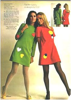 late Penneys 1968 fashion. Colleen Corby and Cay Sanderson.
