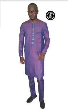 Mes modes African Attire For Men, African Men Fashion, Mens Fashion, Aya Couture, Sherwani, Kurta Designs, Top Man, Indian, Mens Tops