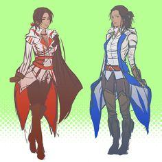 Fem! Connor and Ezio