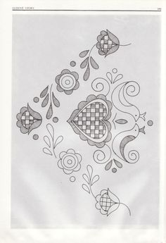 Embroidery Pattern from Gallery.ru / Фото - Slovenska vysivka plna a dierkovana - from jwt Hungarian Embroidery, Folk Embroidery, Chain Stitch Embroidery, Embroidery Stitches, Floral Embroidery Patterns, Embroidery Designs, Stitch Head, Ethno Design, Embroidery For Beginners