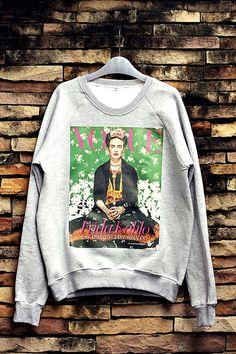 Frida Kahlo Sweatshirt Crewneck Sweater Unisex by OhhShhhShirt, $32.99