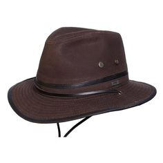 b02f7051167da3 Conner Hats Outback Hats Brown / Small Mountain Trail Waxed Cotton Hat  Outdoor Hats, Safari