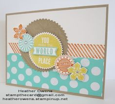 This card uses Starburst Sayings, Starburst Framlits, Gorgeous Grunge, Petite Petals, Petite Petals Punch, Hardwood, Frest Prints DSP, all from Stampin' UP!