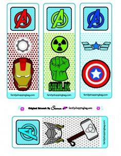 Avengers printable Bookmarks