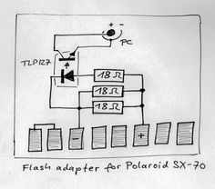 Flash-adapters for the Polaroid SX-70
