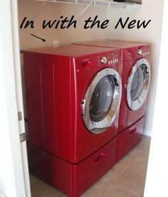 candy apple red lg washer and dryer | Red Washer And Dryer Laundry Room