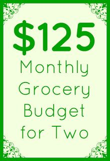 Anxiously Engaging: $125 Monthly Grocery Budget for Two: Time is Money