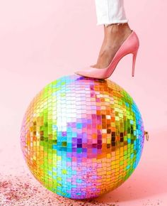I'm not missing much from my life, except maybe a rainbow disco ball. Disco Theme, Disco Party, Disco Ball, Disco 80, Rainbow Aesthetic, Pink Aesthetic, Costume Disco, Glam Glow, Costume Steampunk