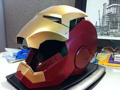 Iron Man Motorcycle Helmet - Grease n Gasoline Iron Man Motorcycle Helmet, Motorcycle Helmet, Iron Man, Helmet, www.way2speed.com