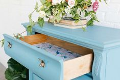 Furniture Upcycle: Fabric Drawer Liner DIY
