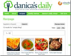 Danica's daily blog on Simply Filling