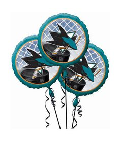 San Jose Sharks 3 Pack Balloons- 18in