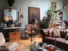 Holister and Prter Hovey's apartment in Brooklyn is filled with small treasures and curiosities.