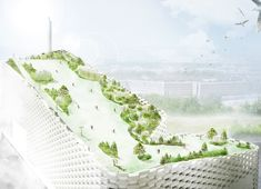 SLA Reveals Park and Ski Slope That Will Cap BIG's Groundbreaking Waste-to-Energy Plant