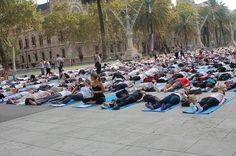 Free Yoga Barcelona todo un éxito #ZICOEsp