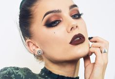 this vampy look is perfect for any holiday party #MakeMeUp