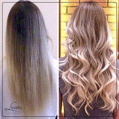 #AnteseDepois pela profissional Paola: #luzescalifornianas com a raiz apagada é a nova tendência deste verão! #lestilo #luzes #californianas #trendyhair #hairstyle #panamby #morumbi