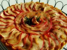 apple rosemary cake