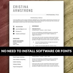 Resume and Cover Letter Template Resume Cover Letter Examples, Resume Template Examples, Resume Template Free, Cover Letter For Resume, Creative Resume Templates, Cover Letter Template, Letter Templates, Resume Layout, Resume Writing