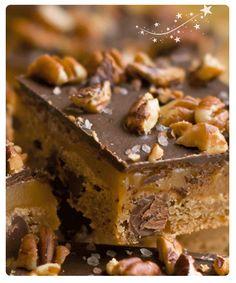Chocolate Pecan  Caramel Bars