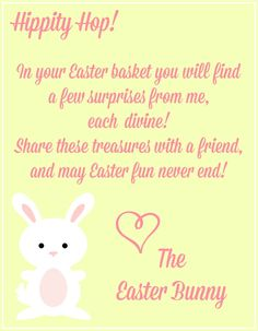 Download a free easter bunny letter template for ms word or free easter printables notes from the easter bunny spiritdancerdesigns Image collections