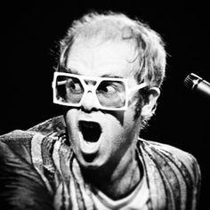 Elton John. #eltonjohn #singer #artist #frames #eyewear #eyesight #blackandwhite #eyewear