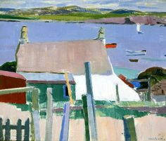 bofransson:  Iona, Towards Mull, c.1927 (oil on board) by Cadell, Francis Campbell Boileau (1883-1937)