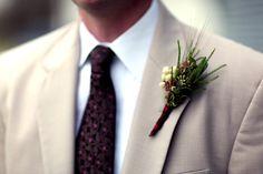 Wedding-Boutonniere-Karen Bonar & Mike Shepherd