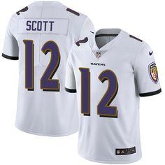 Nike Ravens  12 Jaleel Scott White Men s Stitched NFL Vapor Untouchable  Limited Jersey 202ec906c