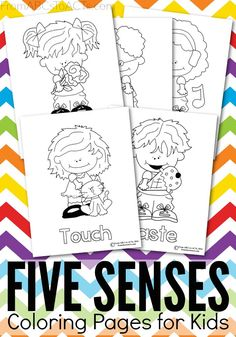 Start teaching your preschooler all about the five senses with these adorable (and free!) printable coloring pages.