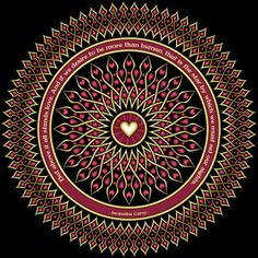 Heart sights mandala with a blank version to color