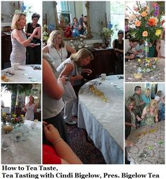 """""""Tea tasting with Cindi Bigelow, President of Bigelow Tea. How to Tea taste."""" http://stillblondeafteralltheseyears.com/2013/06/how-to-tea-taste-tea-tasting-cindi-bigelow/"""