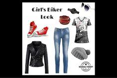 Girl's+Biker+Look