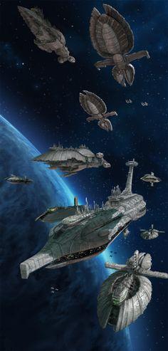 Star Wars RPG - Separatist Fleet by Lukasz Jaskolski Star Wars Clone Wars, Star Wars Clones, Rpg Star Wars, Nave Star Wars, Star Wars Ships, Star Wars Fan Art, Star Wars Concept Art, Images Star Wars, Star Wars Pictures