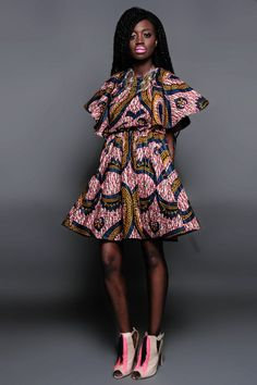 Demestiks New York Robes Automne 2014 ~African Prints, African women dresses, African fashion styles, African clothing, Nigerian style, Ghanaian fashion ~DK