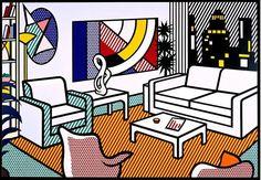 Interiors by Roy Lichtenstein, 1990s - Retronaut