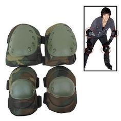 QR Anti-Impact Elbow & Knee Armors Protector Guard Pads with Velcro Straps Set f
