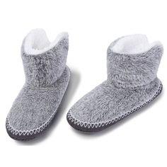 31fd54fceb1 Buy Womens Fuzzy Christmas House Slippers Ladies Cute Bedroom Indoor Winter  Slippers - Grey - CT188X8K6MXSlippers