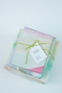 you are my fave: watercolor wrapping