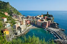 Vernazza is one of the five towns that make up the Cinque Terre region. It has about 1,200 residents and it's known as one of the truest fis...
