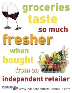Food and Hospitality independent retailers - shop local and make a difference during Independent Retailer Month!