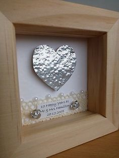 10th Tin 11th Steel Wedding Anniversary Frame Gift Present Personalised