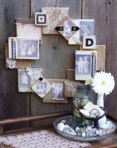 Decoupage Projects On Canvas | Displaying Kids Artwork {Ruler Frame Idea}