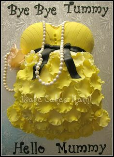 iBake Cakes: Pregnant Belly Cake- yellow