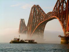 Forth Rail Bridge, Queensferry, Scotland, 2002, photograph by Alan Cowper.