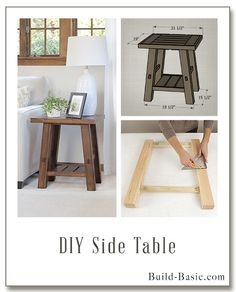 Build a DIY Side Table - Building Plans by @BuildBasic www.build-basic.com