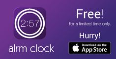 Alrm Clock, is FREE for limited time! (save $2.99) http://bit.ly/alrmfree